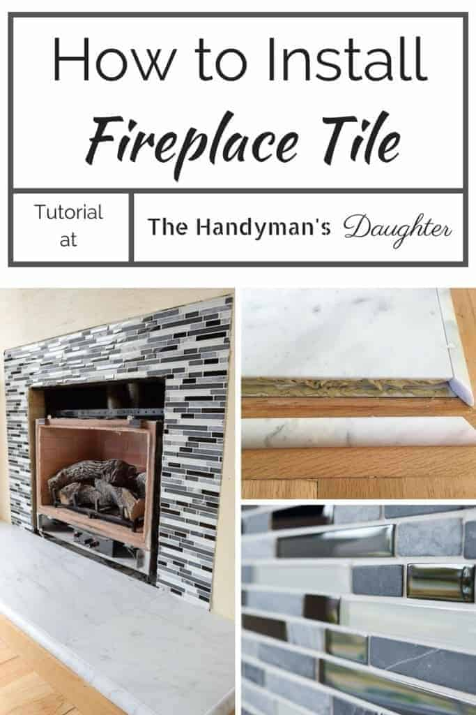 Want to install your own fireplace tile? Learn the tricks and tips I used on mine!