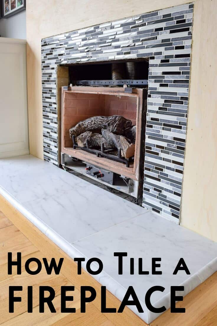 How to tile a fireplace
