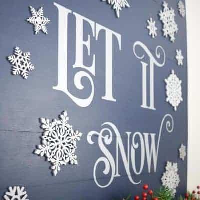 Let it Snow Sign