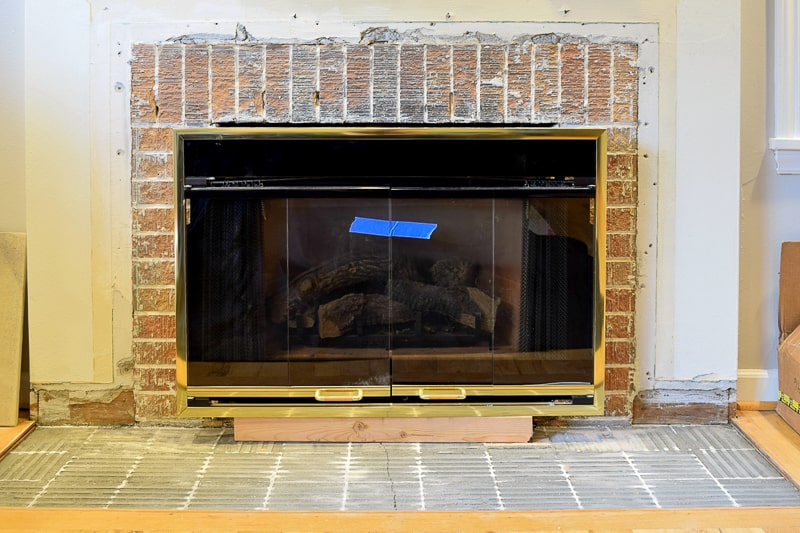 original brick fireplace