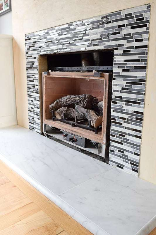 My Fireplace Remodel Is Almost At The Finish Line Tile Up