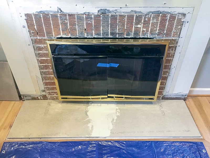 fireplace remodel with new hearth built