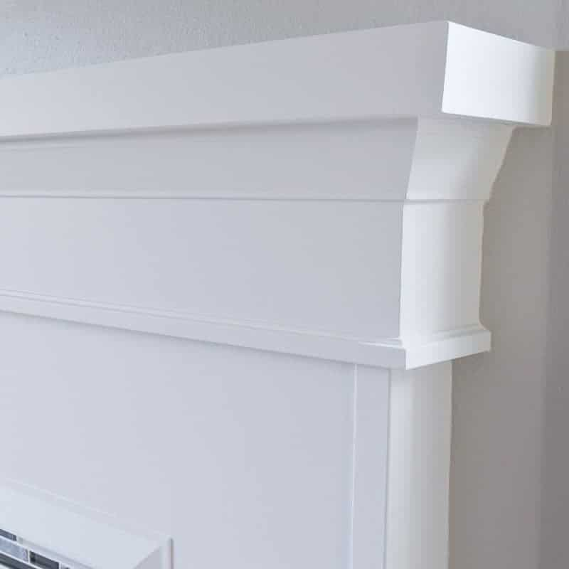 Architrave moulding is typically installed over doors and windows, but works perfectly as fireplace trim as well!