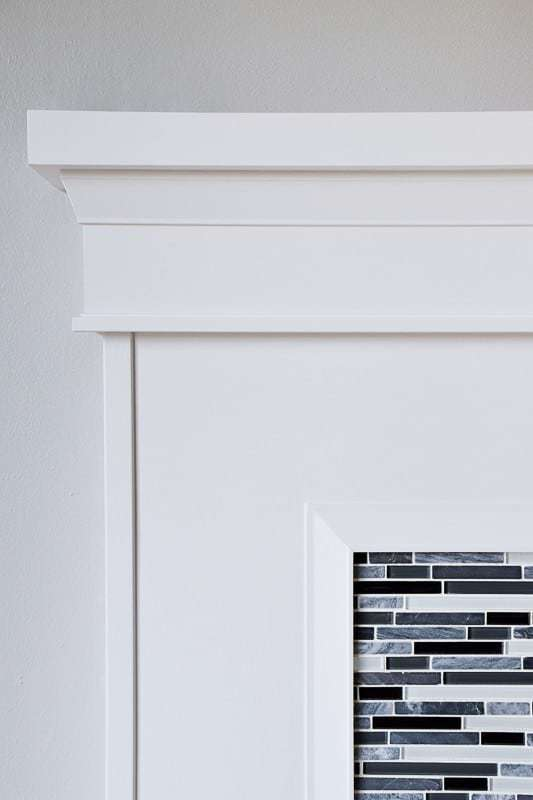 The right fireplace trim can completely transform the entire look of the room. See how I installed mine with this handy tutorial!