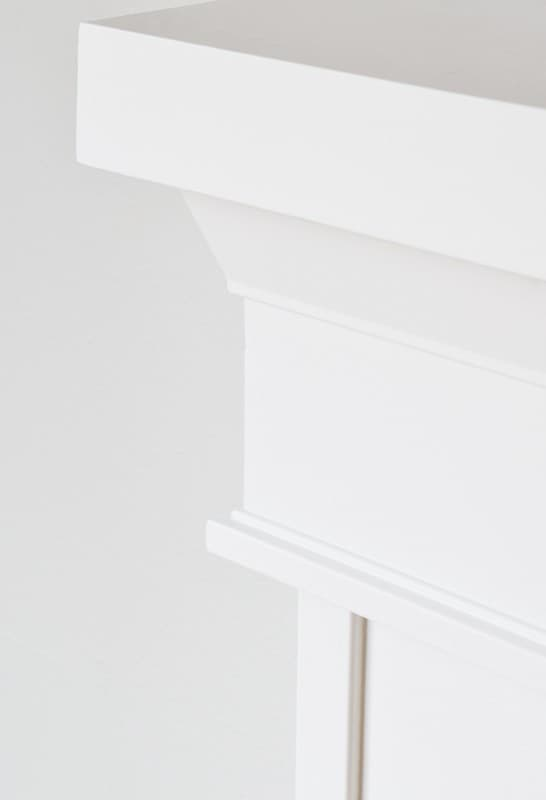 Architrave moulding is the perfect for fireplace trim under the mantel.