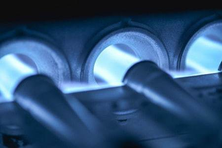 Check the flames when doing furnace troubleshooting to make sure they're burning a steady blue.