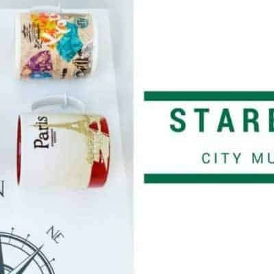 Starbucks City Mugs Collection Display