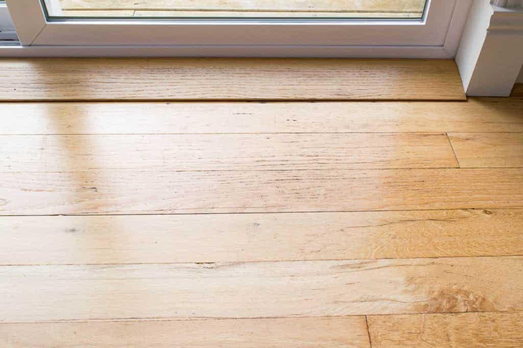 Deep clean old hardwood floors back door before the Deep clean wood floors