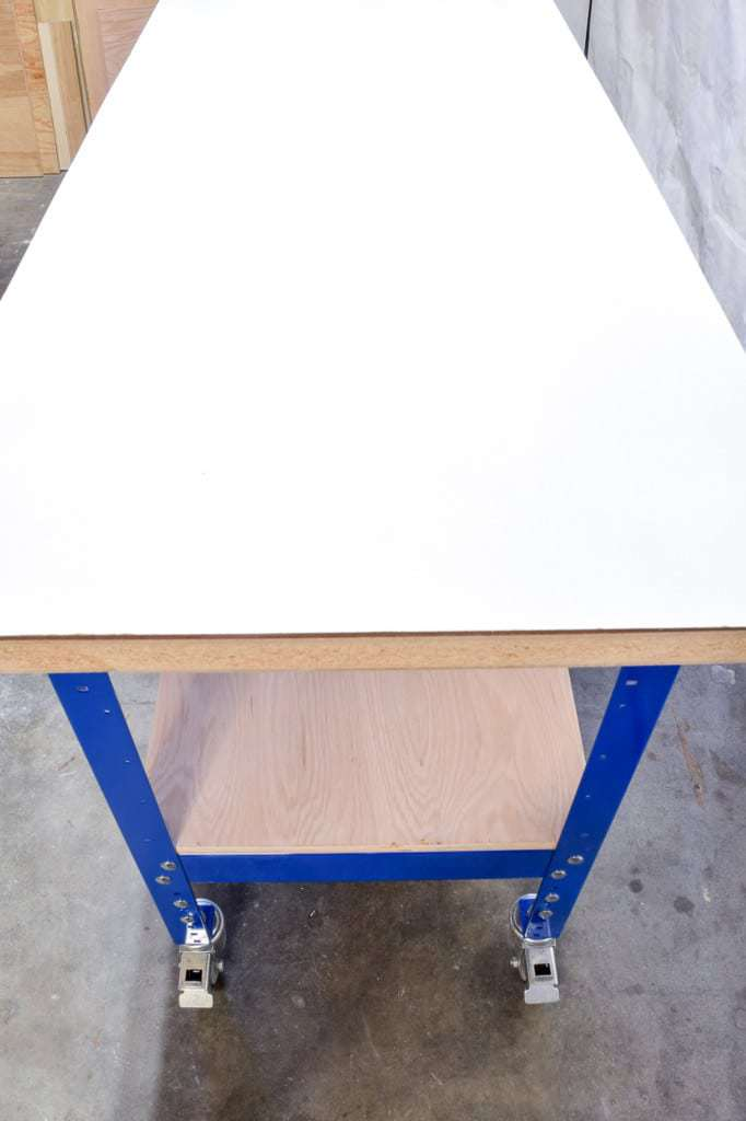 This narrow yet long Kreg workbench is the perfect solution to a garage/workshop.