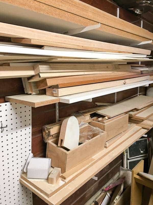 My lumber rack is out of control! I need to come up with a new workshop organization system to keep this room functional.