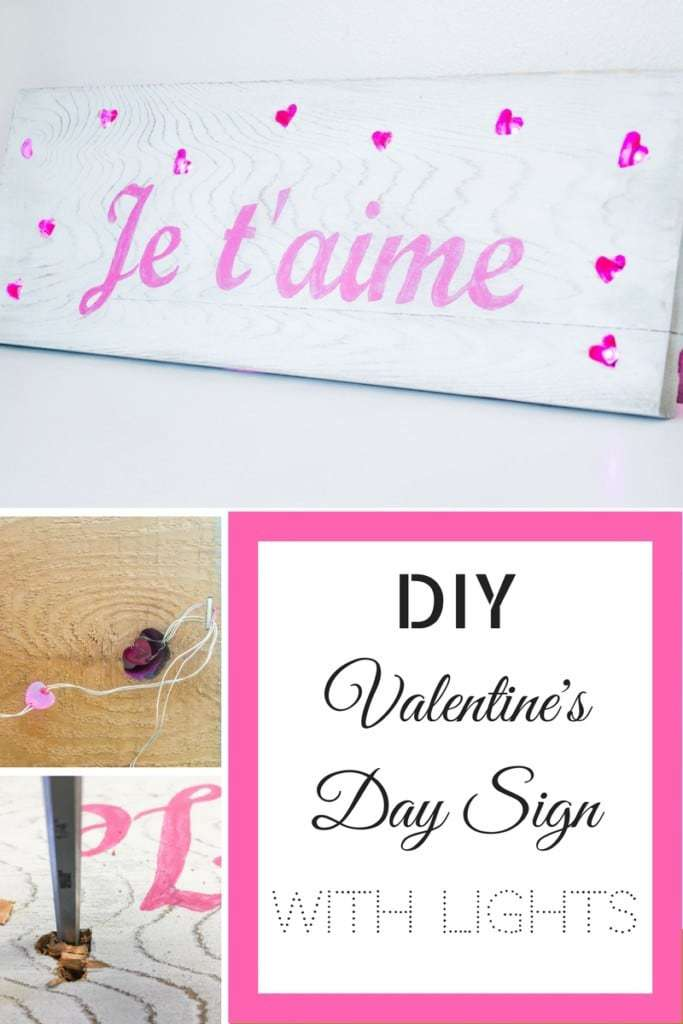 Proclaim your love in lights with this Valentine's Day sign! Mini LED hearts peek out from heart shaped holes in the sign for a fun pop of color and light.
