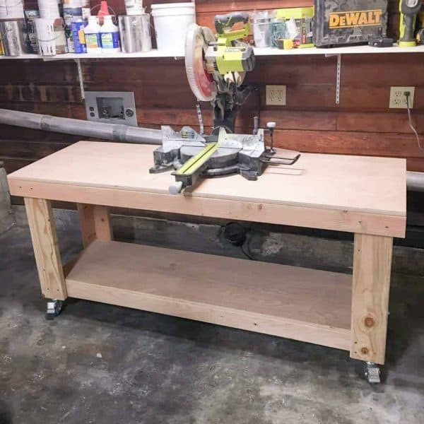 With a six foot long miter stand, I was able to fit a piece of 2' long trak on either side of the saw.