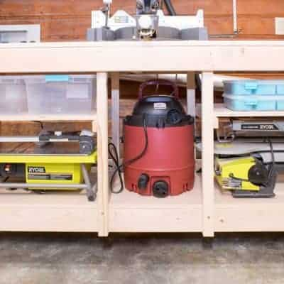 Workshop Wednesday – Miter Saw Stand with Extra Storage