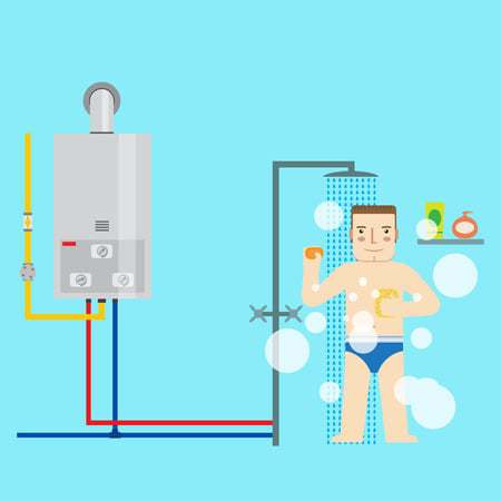 One of the benefits of a tankless water heater is that you never run out of hot water!