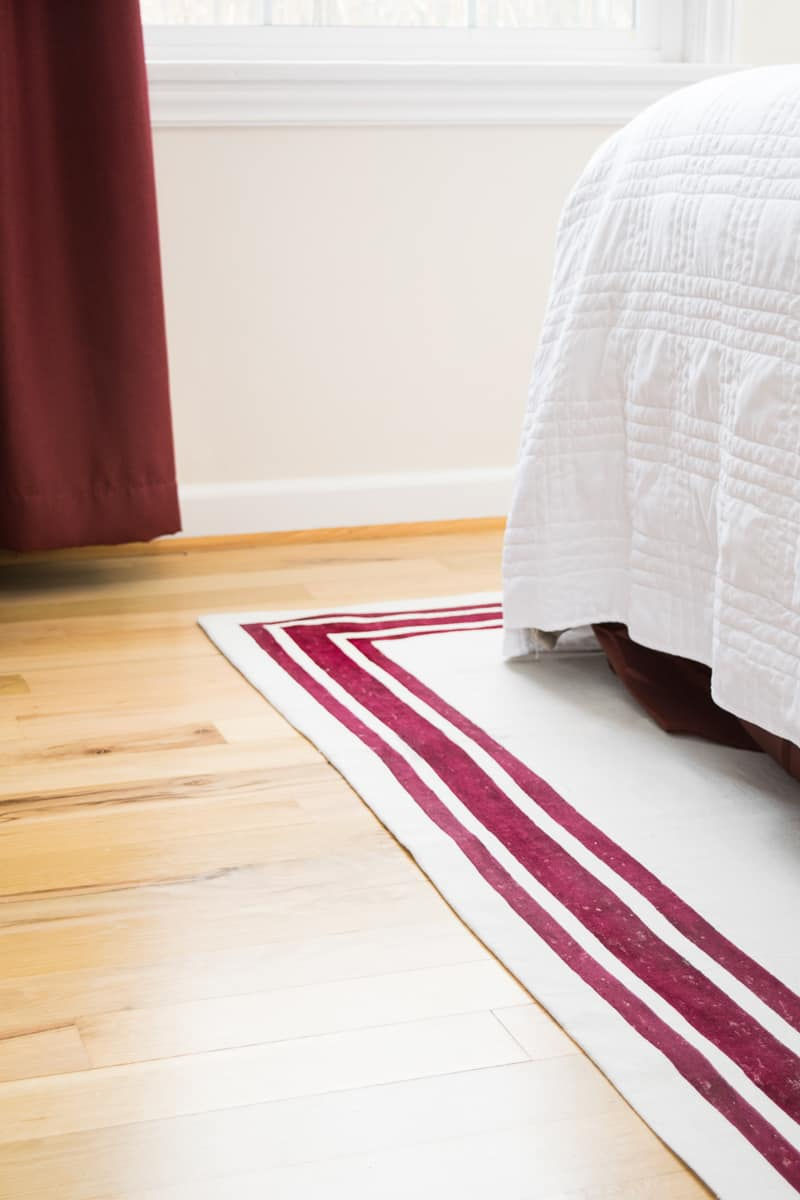 tutorial on how to make a rug using a canvas drop cloth