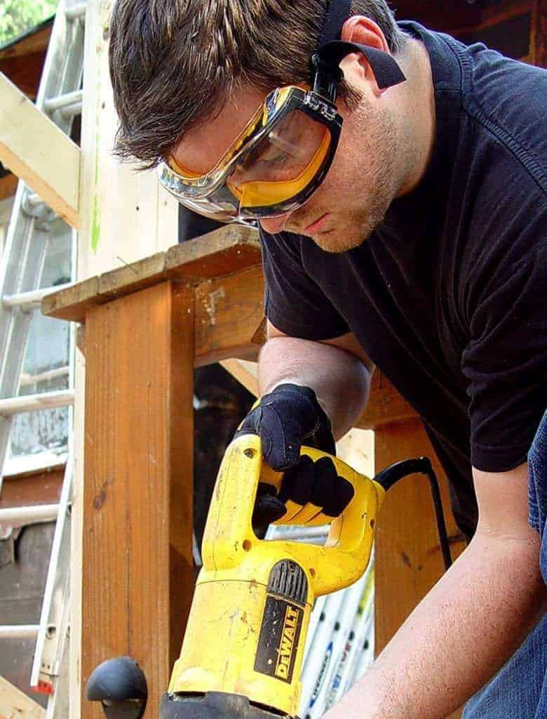 These safety glasses from Dewalt are great for sanding.