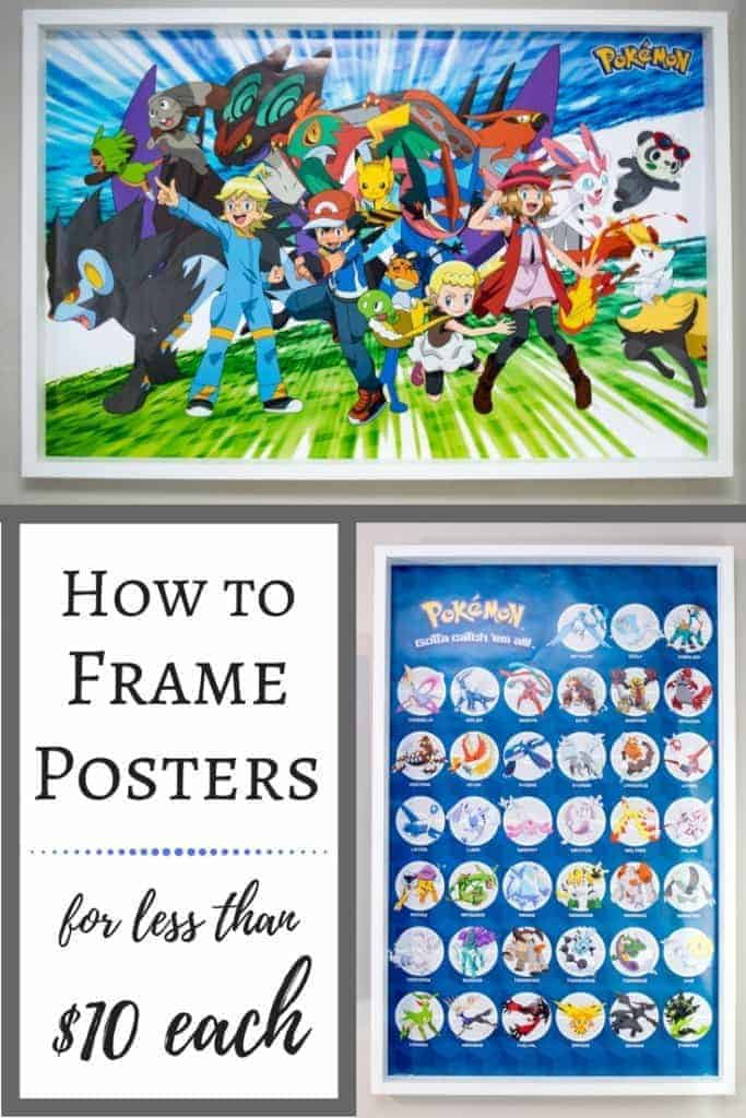 How to Frame Posters for less than $10 each | DIY poster frame | How to frame a poster