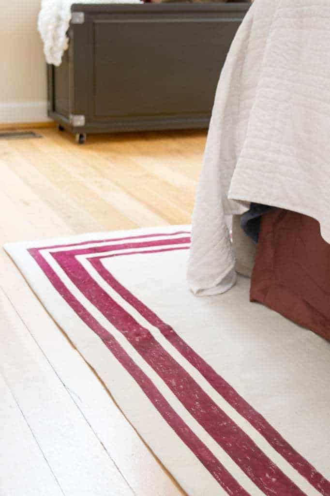 Make Your Own Rug With A Drop Cloth And Fabric Paint It S Easy To Customize