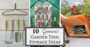 These ten genius garden tool storage ideas will get your shed or garage organized in no time!