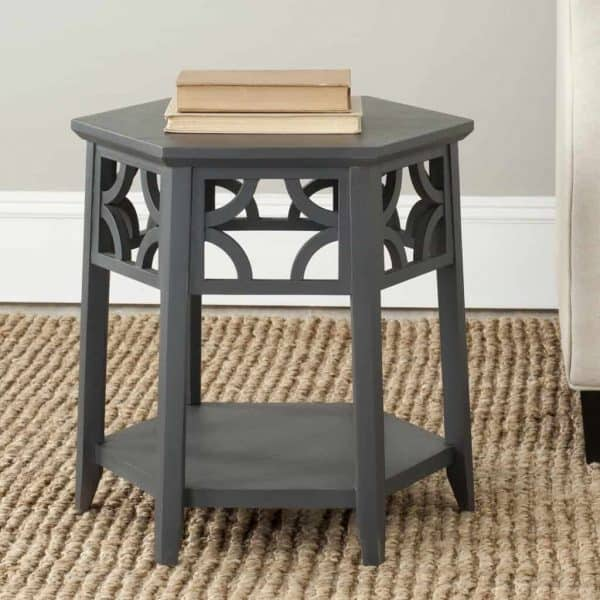 This hexagon side table would look amazing in your living room.