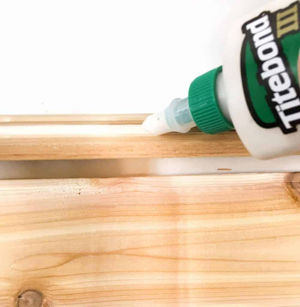 Add glue to the groove of the tongue and groove boards for added strength at the joint.