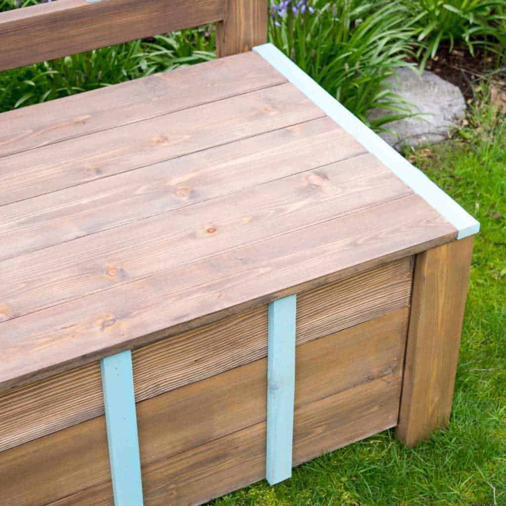 Give your yard both seating and storage with this DIY storage bench!