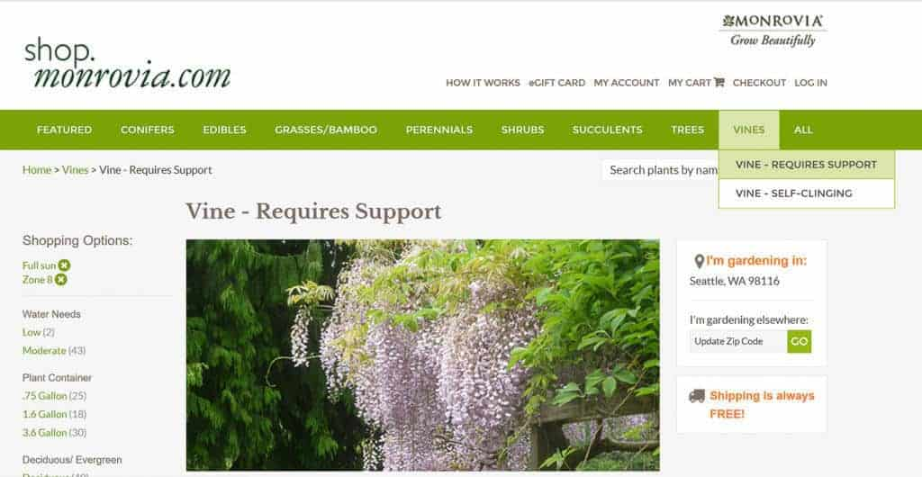 Monrovia's website helps you plan your garden and find the perfect plants.