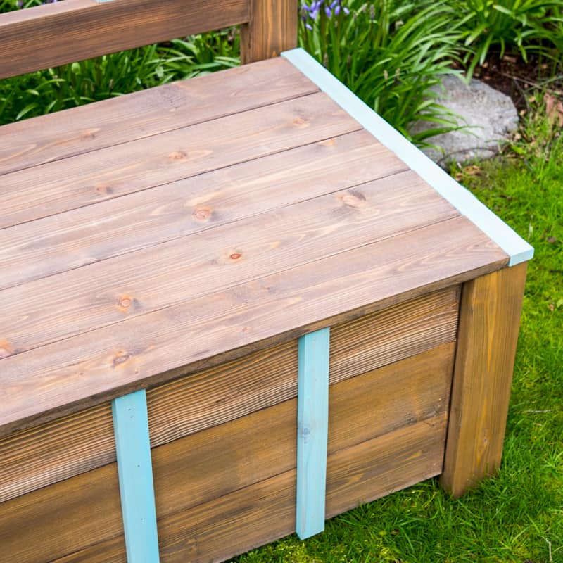 long outdoor bench seat