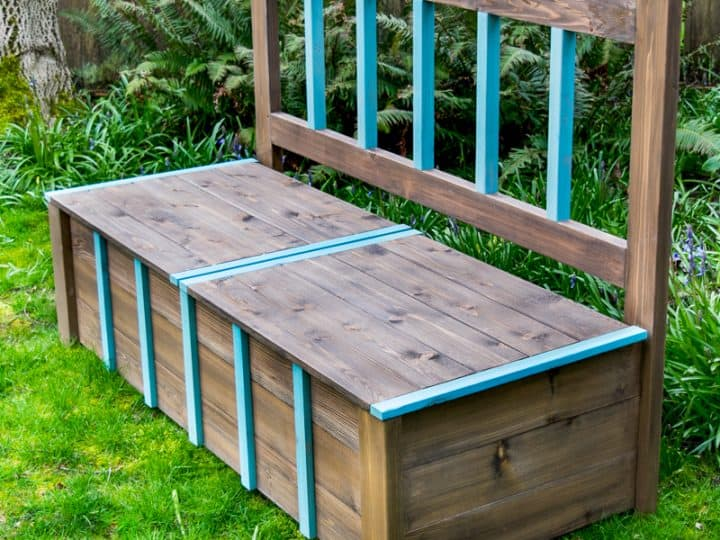 Awesome Diy Outdoor Storage Bench The Handymans Daughter Inzonedesignstudio Interior Chair Design Inzonedesignstudiocom