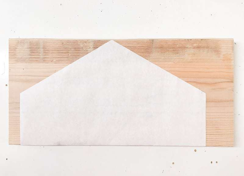 Trade the hexagon template onto the wood for an easy guideline for cutting.