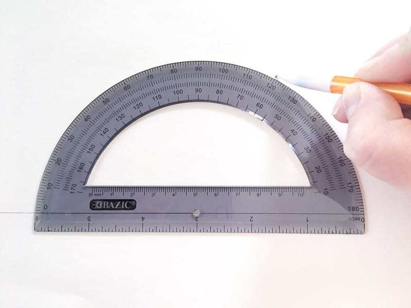 Use a protractor to create a template for the hexagon top.