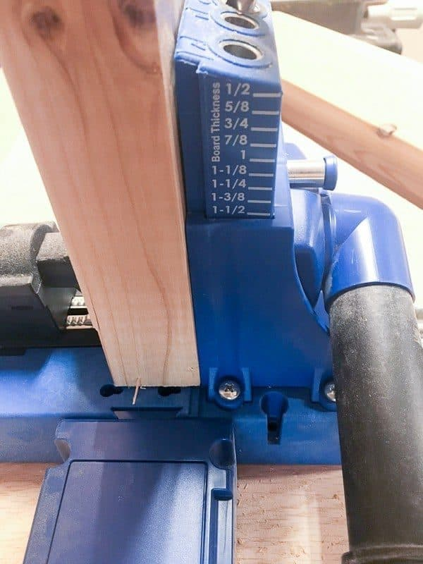 """Drill pocket holes for your DIY end table at 1 1/2"""" first."""