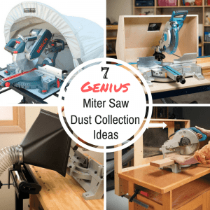 Sawdust taking over your workshop? These genius miter saw dust collection ideas will help get it under control!
