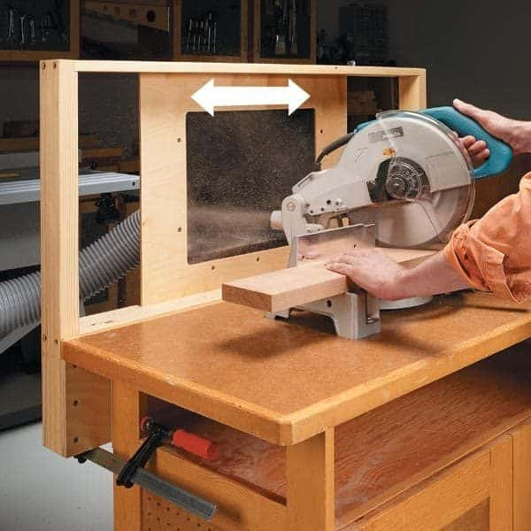 Make Sure Your Miter Saw Dust Collection Works From Every Angle! This  Sliding Mechanism Catches