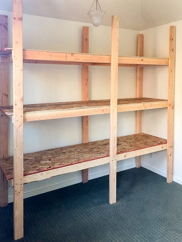 These storage shelves are easy to build in just one afternoon!