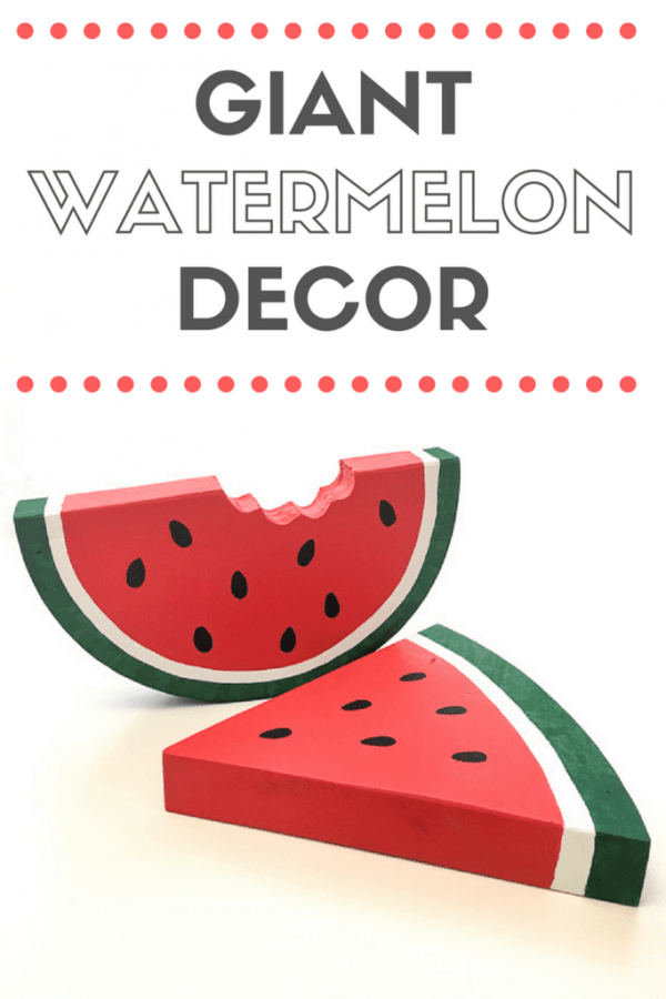 Bring a pop of color to your home for summer with watermelon decor! These fun decorations are easy to make with scrap wood. Get the tutorial at The Handyman's Daughter! | fruit decor | summer decor | summer home decor | summer decorations