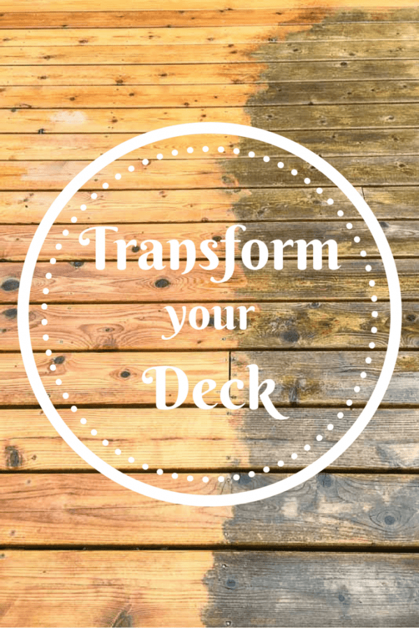 Do you have a gray, dirty deck? Transform it quickly and easily with the right deck cleaner! This post and video shows you how! | deck cleaning | deck maintenance | how to prep your deck for stain | deck stain | deck stripper