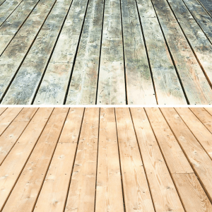 deck cleaner before and after