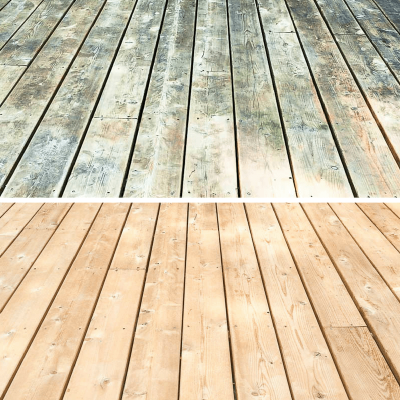 Transform Your Deck With Cleaner And Brightener The