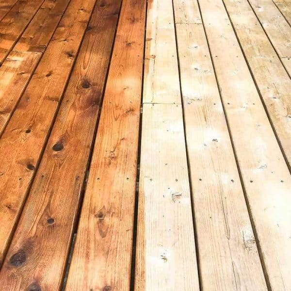 How To Stain A Deck Fast The Handyman S Daughter