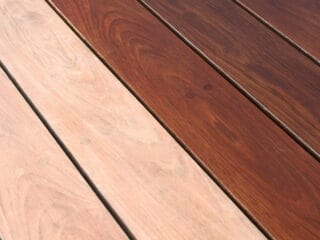 how to stain a deck with before and after photos