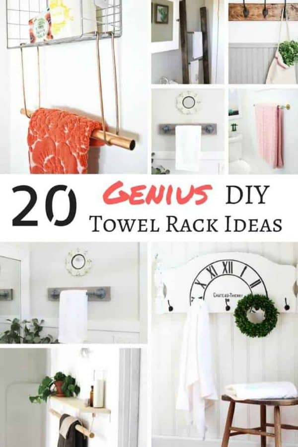 20 Genius DIY Towel Rack Ideas - The Handyman\'s Daughter