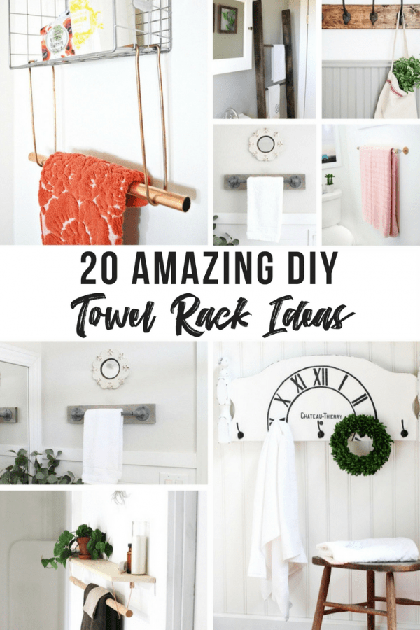 Collage Of Diffe Diy Towel Rack Ideas