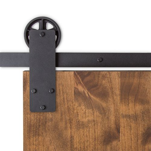 The Aspen sliding barn door hardware from Artisan Hardware is a great choice for barn doors.