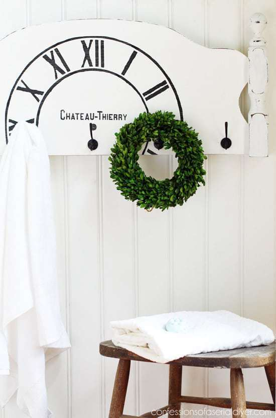 Found an amazing headboard, but don't have a bed to attach it to? Create this headboard towel rack instead!