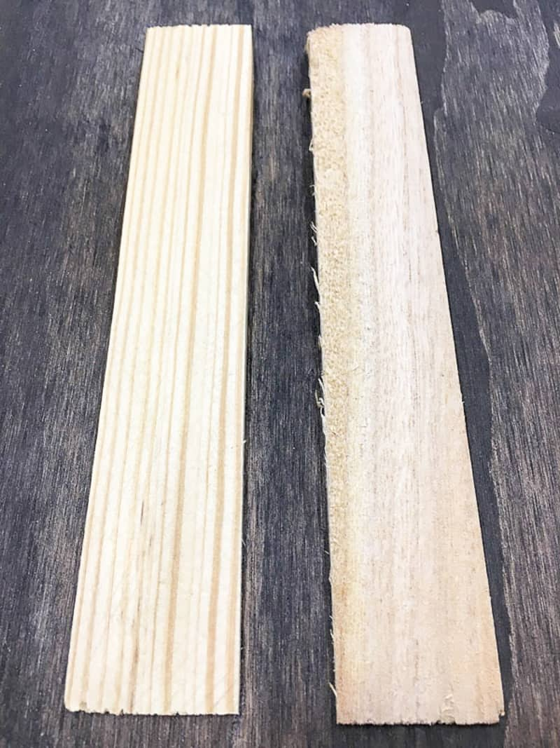 comparison of two wood shims