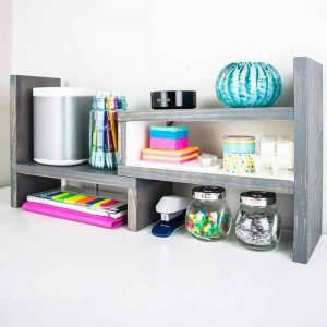 This desktop organizer can be configured multiple ways to make the best use of your space.