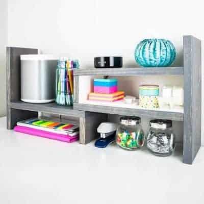 DIY Adjustable Desktop Organizer
