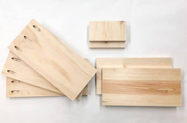 Cut the pieces for your desktop organizer.