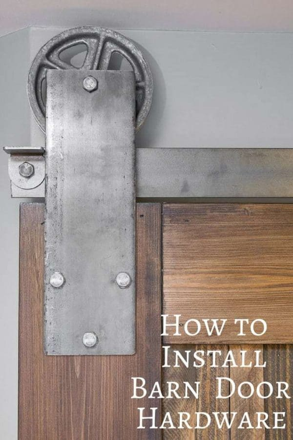 This handy guide will teach you how to install sliding barn door hardware! | Artisan Hardware | barn door | farmhouse style | sliding door